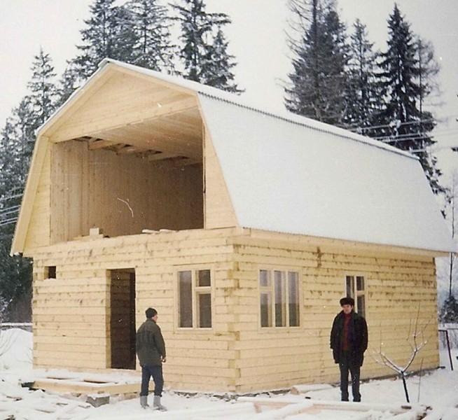 Стропительство мансардной крыши для бани