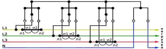 Схема косвенного подключения