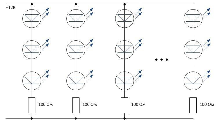 Схема светодиодной ленты
