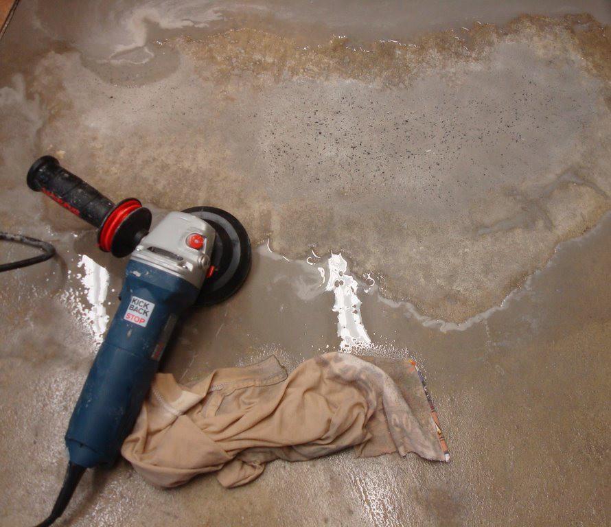 Уберите выступы и очистите поверхность