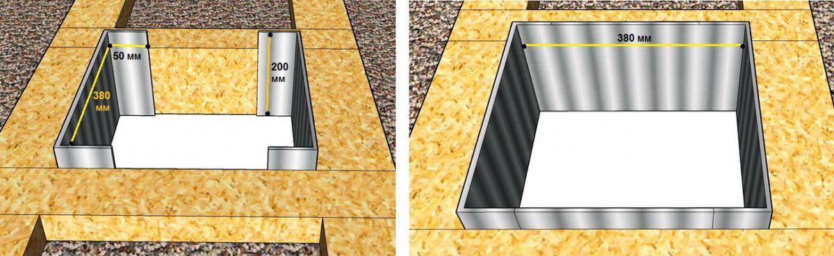 Устройство короба потолочно-проходного устройства