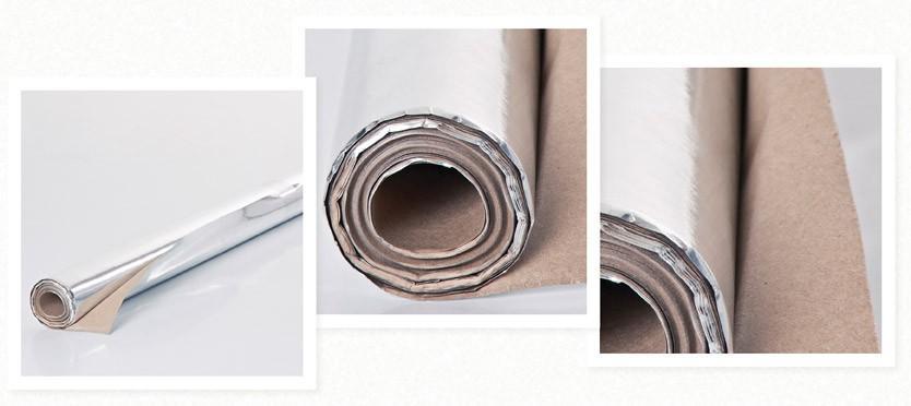 Фотографии внешнего вида рулонов отражающей изоляции Мегаспан ФБ для бань и саун