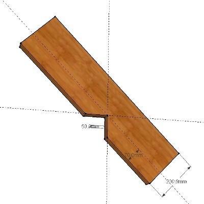 Глубина «седла» не должна превышать одной трети от ширины стропила