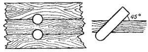 Схема установки шкантов
