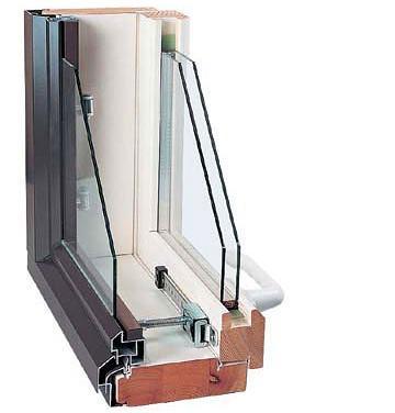 Конструкция комбинированного окна с двумя рамами