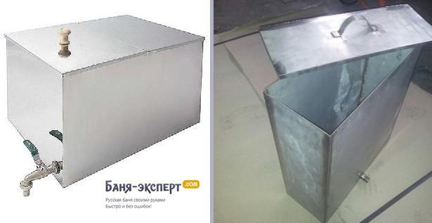Баки металлические для банных печй