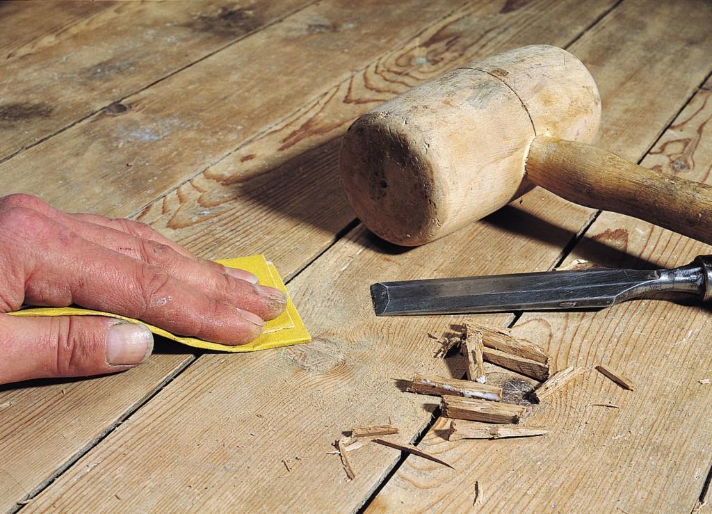 Устсранение скрипа с помощью клиньев