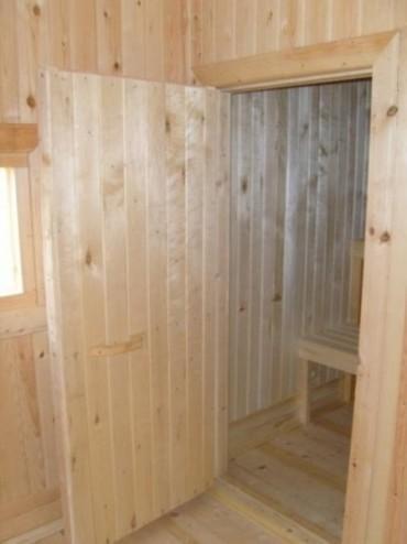 Новая дверь в бане