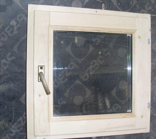 Окно банное со стекло пакетом из осины
