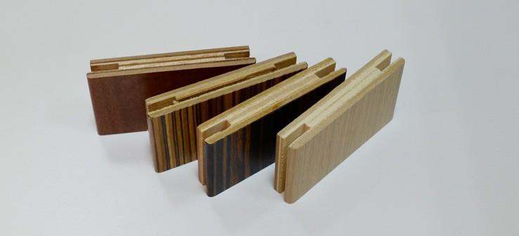 Пазированные доборы для дверей, отделанные натуральным шпоном