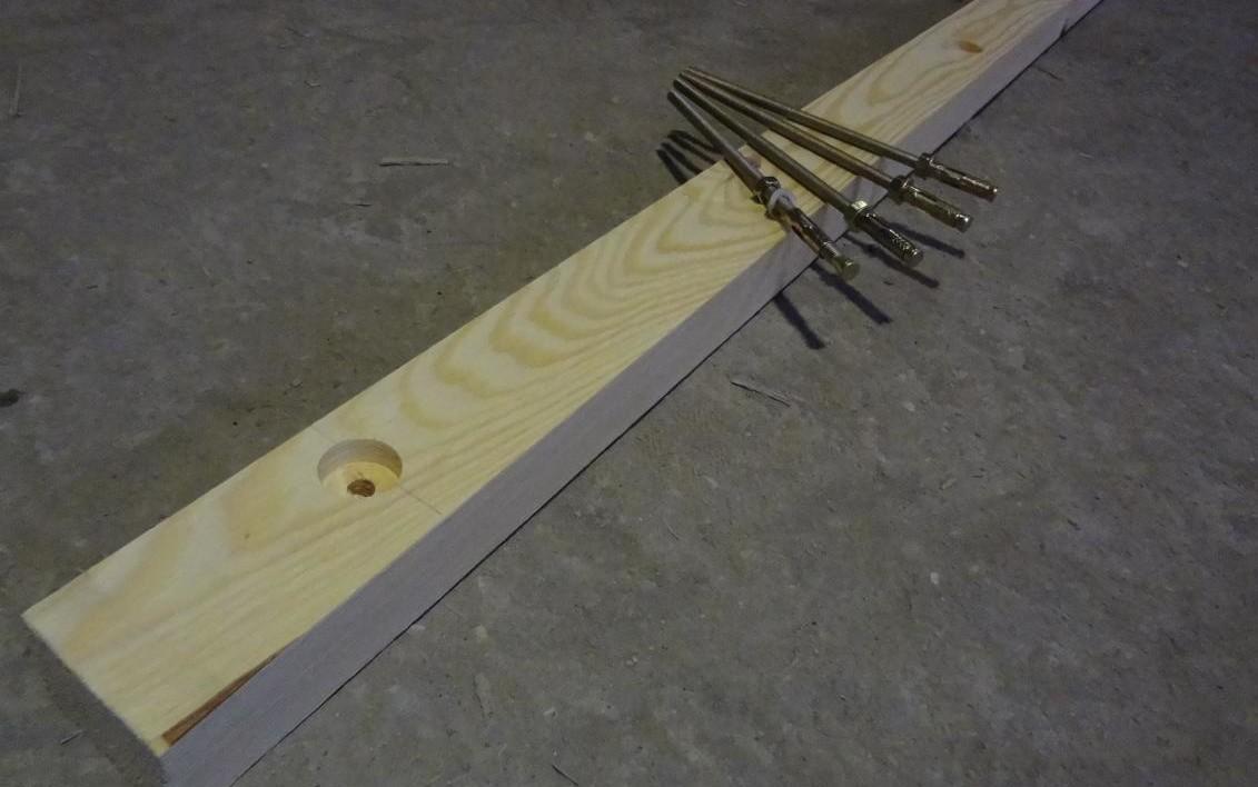 Комплект лаги со шпильками