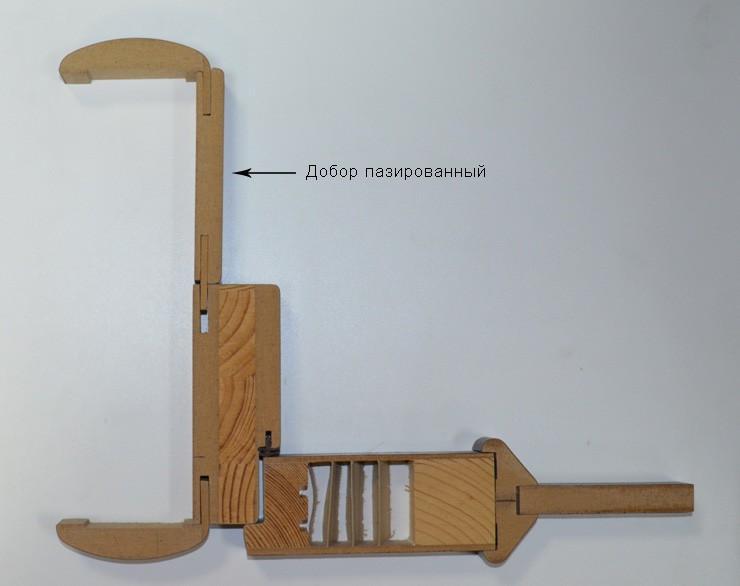 Крепление пазированного добора для дверей к коробке и наличнику