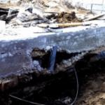 Разрушение фундамента под атмосферными воздействиями