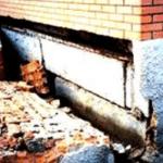 Разрушение фундамента из блоков ФБС