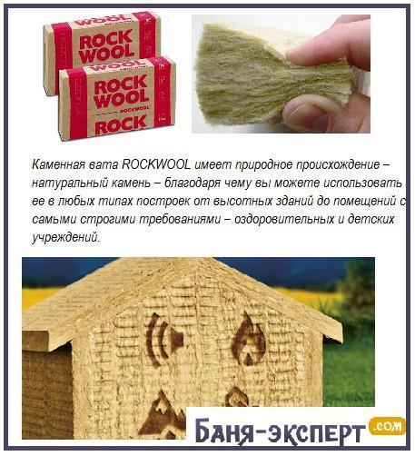 Вата каменная Роквул