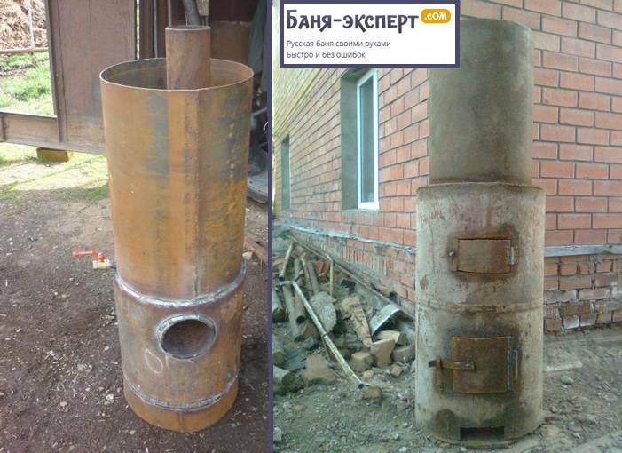 Вертикальная печь из стальной трубы