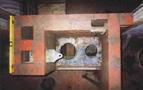 Установка шибера в печь