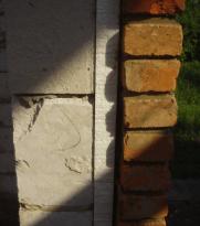 Схема отделки цоколя кирпичом