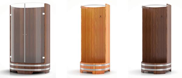 Деревянные душевые кабины для бань