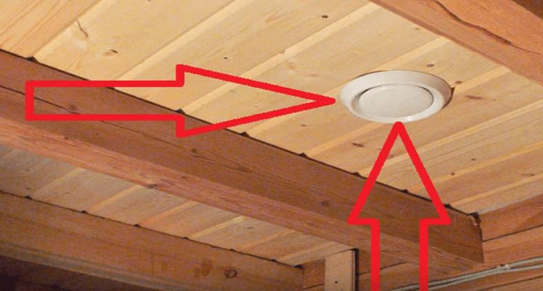 Выходное отверстие на потолке - не лучший вариант