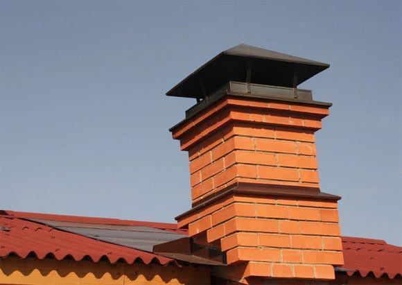 Выход на крышу классического дымохода