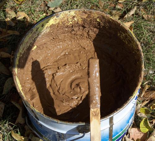 Готовый глиняный раствор для кладки печи