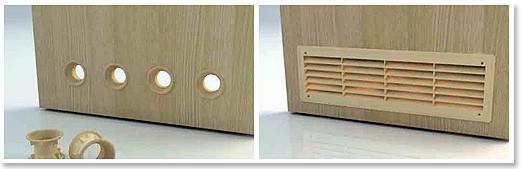 Двери с отверстиями для вентиляции (фото)
