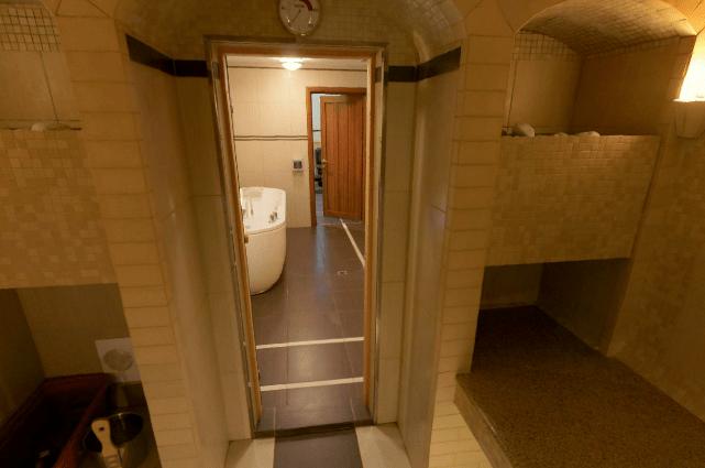 Дверь в баню стеклянная