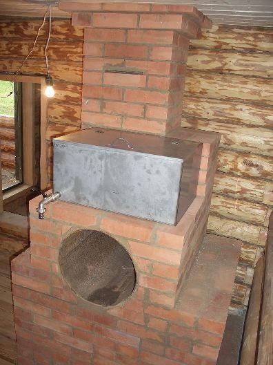 Кирпичная каменка для русской бани
