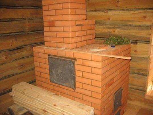 Кирпичная печь в бане, сделанная своими руками
