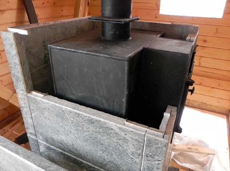 Металлический котел в бане достаточно эффективен и высокопроизводителен