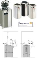 Модели термос и схема установки печи с ограждением