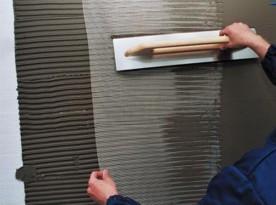 Наклеивание штукатурной сетки на пенопласт