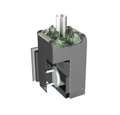 На схеме продемонстрирована установка теплообменника из нержавейки