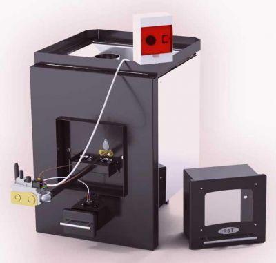 На фото - газовая печь с выносным регулятором температуры
