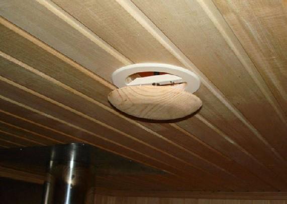 Не стоит делать вытяжное отверстие в потолке
