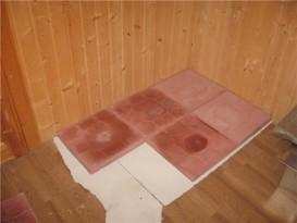 Основание из плитки под печь