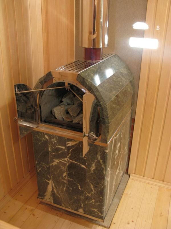 Печь Калита установлена на бетонный фундамент