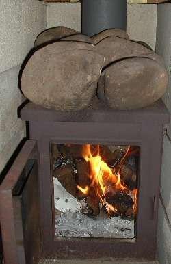 Пример банной печи без колосника