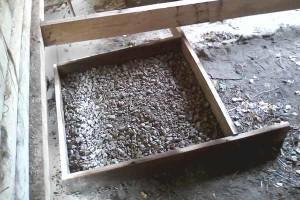 Пример отсыпки щебня