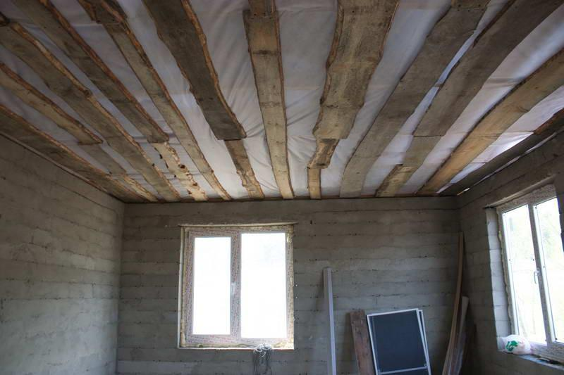 Пример чернового потолка