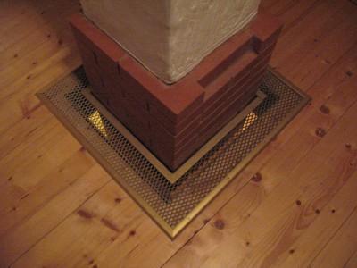 Проход дымохода из кирпича через потолок