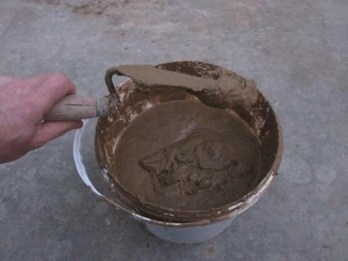 Раствор для кладки глиняный - фото