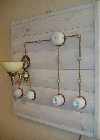 Ретро-проводка в деревянной бане