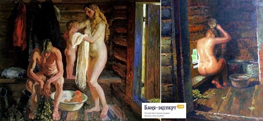 Русская баня в старину