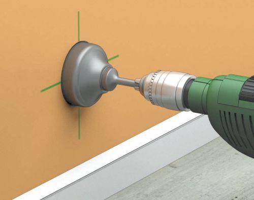 Сверление стены по разметке