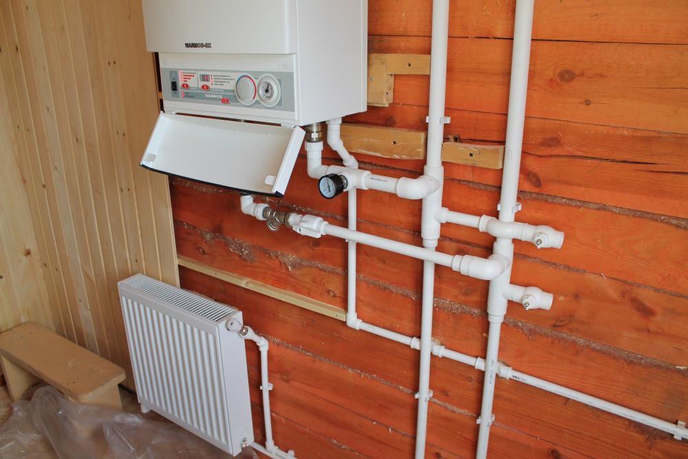 Система отопления с котлом - фото