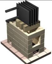 Схема кладки печи и установки теплообменника в ней