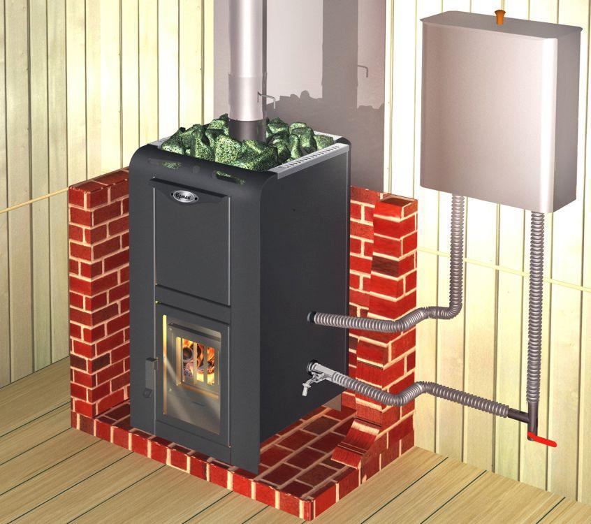 Схема установки теплообменника в вертикальную печь