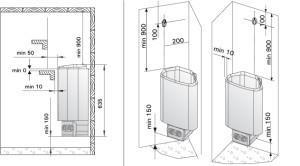 Схема установки электрокаменки